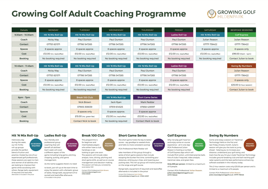 Adult Coaching Programme